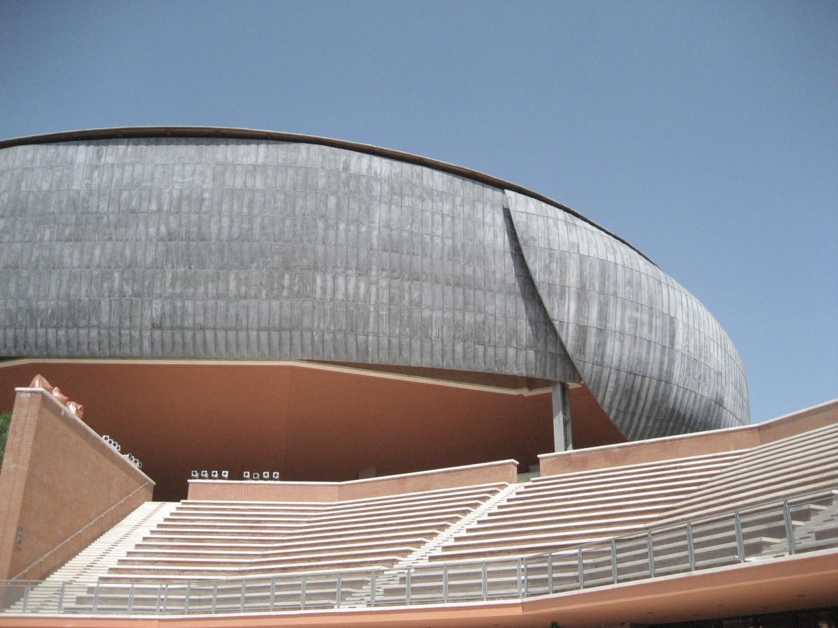 Moderne architectuur in Rome - het Auditorium van Renzo Piano