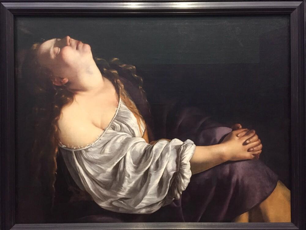 De extase van Maria Magdalena door Artemisia Gentileschi