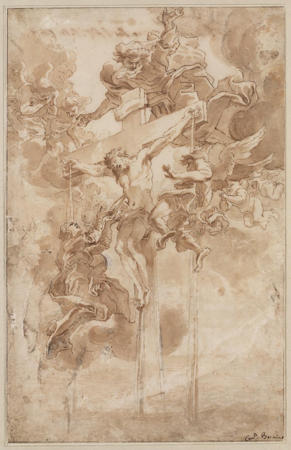 Allegorie op het Heilig Bloed van Christus - tekening van Bernini in Teylers Museum