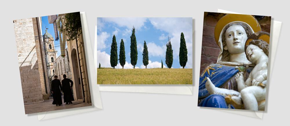 Italië-prints in A5 -- set Celeste
