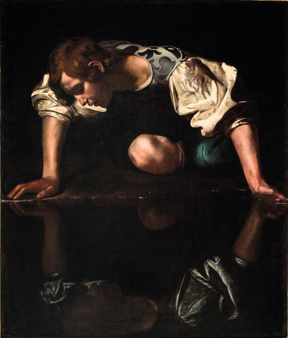 Narcissus, door Caravaggio