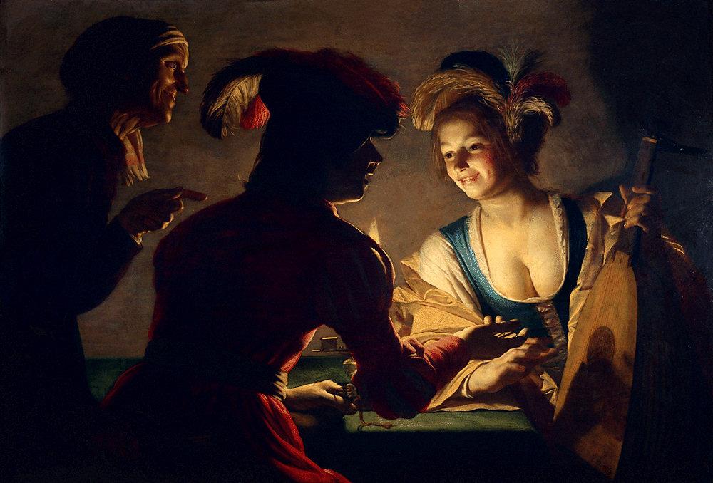 Caravaggisten - Gerard van Honthorst, De koppelaarster