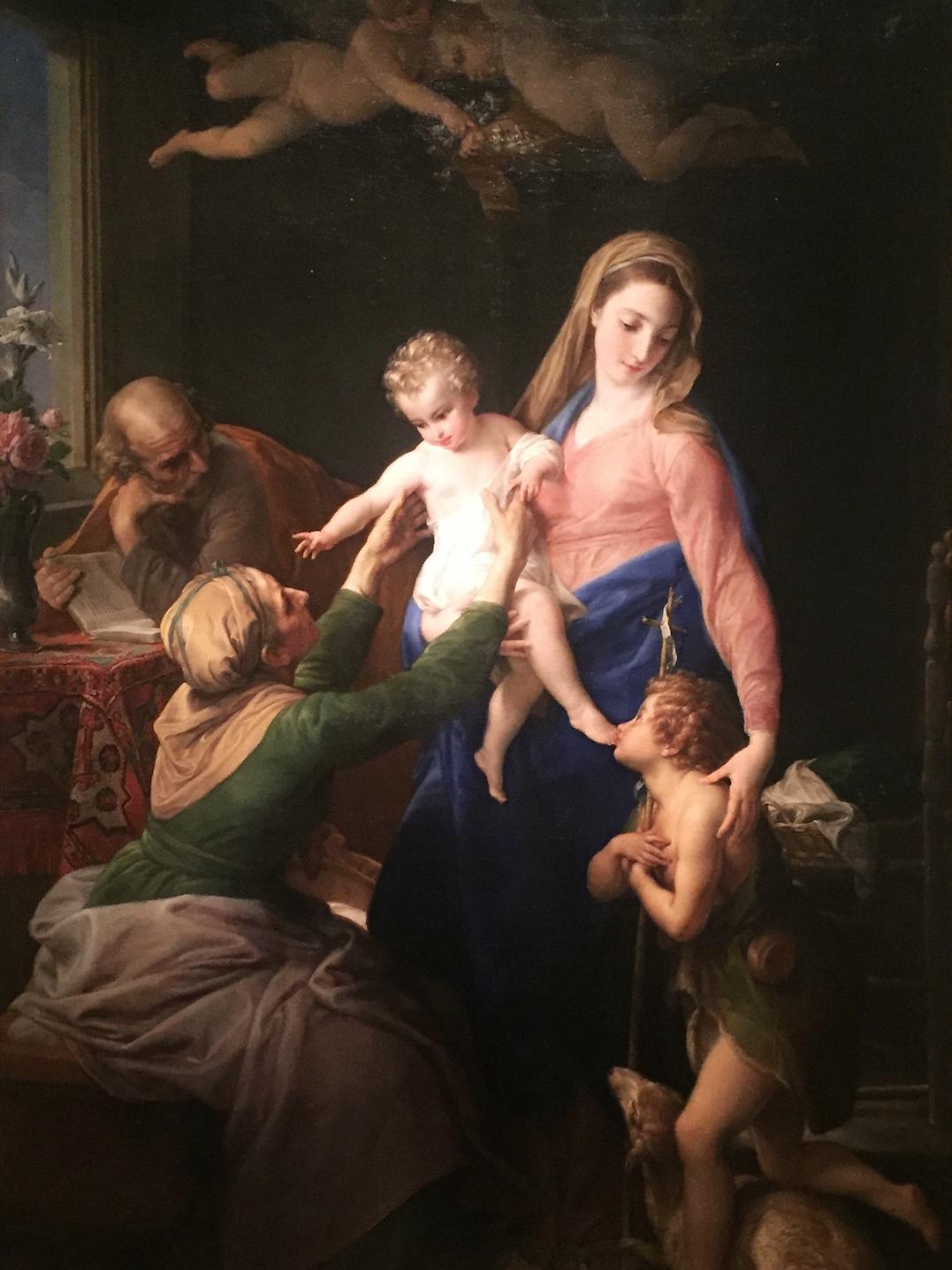 Pompeo Batoni, De Heilige Familie met Sint Elisabeth en Johannes de Doper
