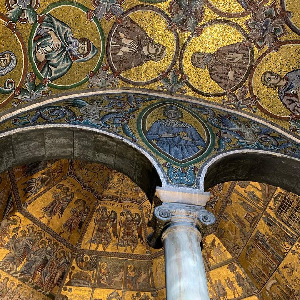 Mozaïeken in het Battistero in Florence