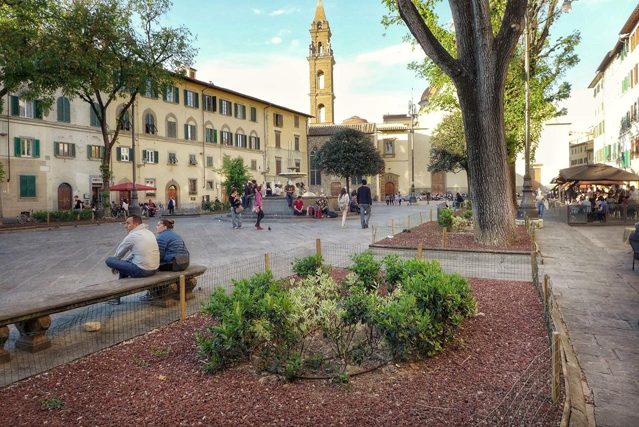 Piazza Santo Spirito in Oltrarno, Florence