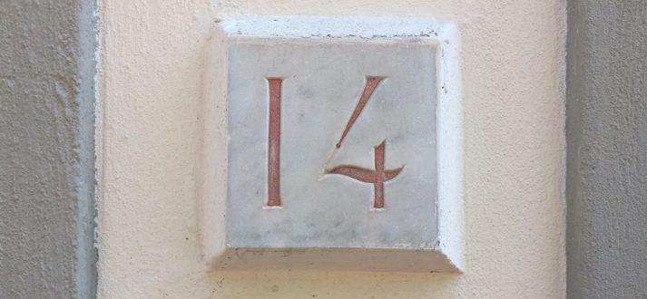 De rode huisnummers van Florence