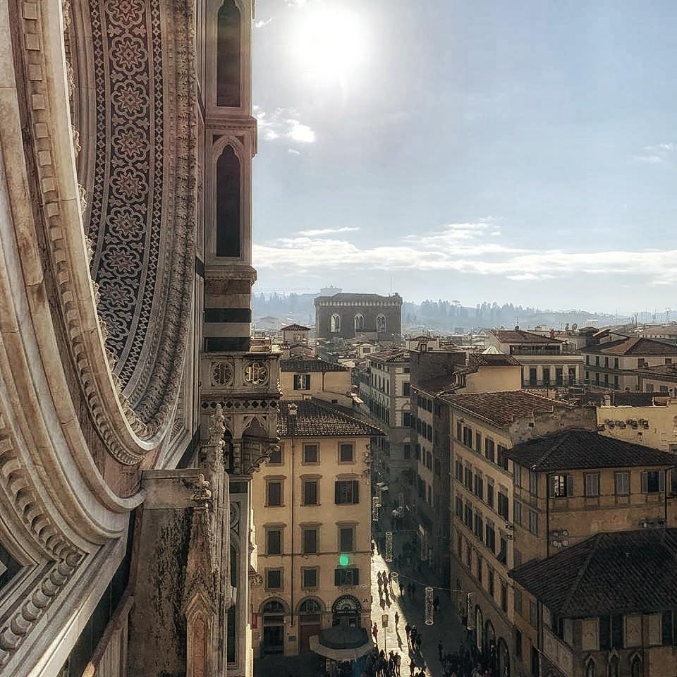 Uitzicht over Florence vanaf de Duomo