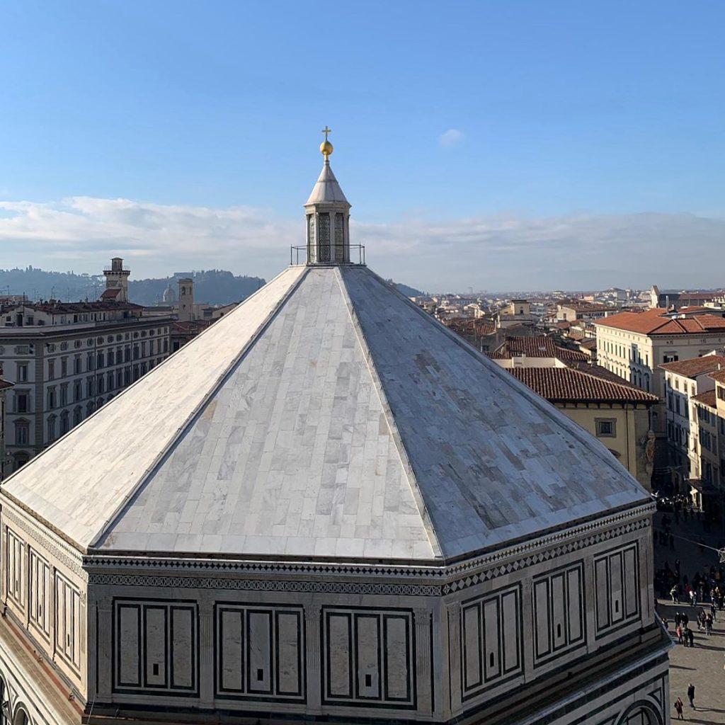Zicht op het Battistero van Florence