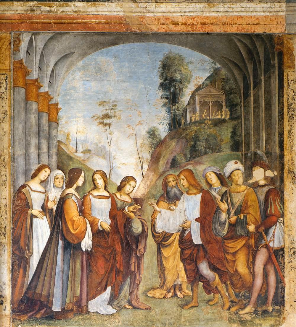 Het Oratorio di Santa Cecilia in Bologna - fresco 1