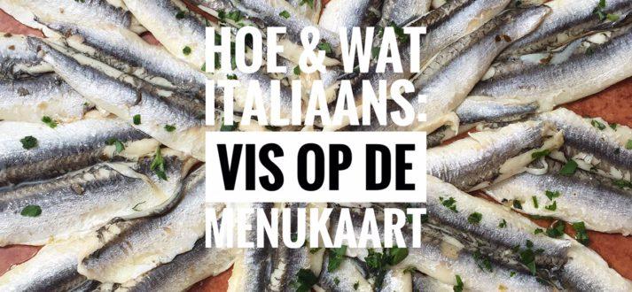 Italiaanse taal: vis op de menukaart