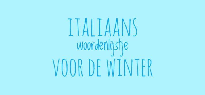 Italiaans woordenlijstje voor de winter