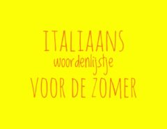 Italiaans woordenlijstje voor de zomer