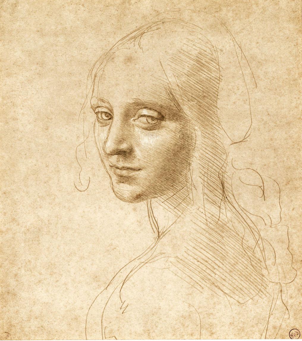 Leonardo da Vinci - Jonge vrouw
