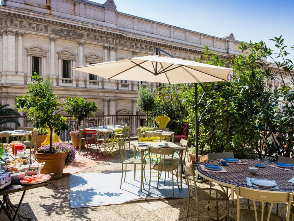 Dakterras van Salotto Monti Boutique Hotel in Rome