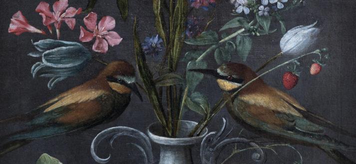 Vaas met bloemen van Orsola Maddalena Caccia