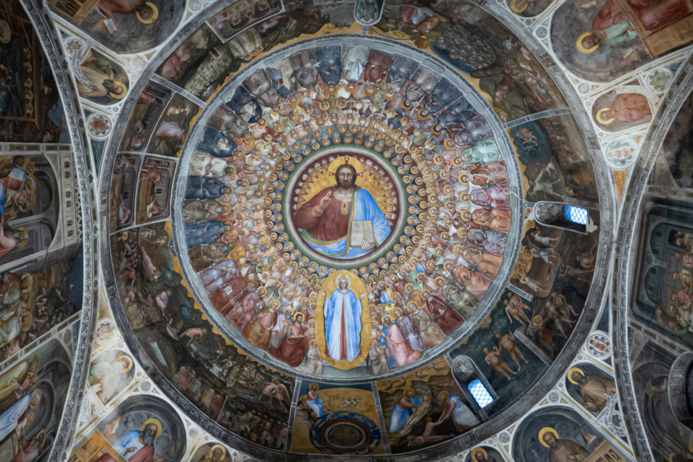 Fresco's in Padova - het Battistero