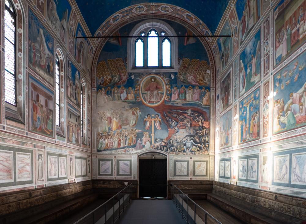 Fresco's van Giotto in de Cappella degli Scrovegni in Padova