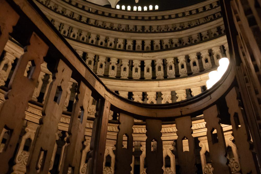 Het anatomische theater in het Palazzo Bo in Padova