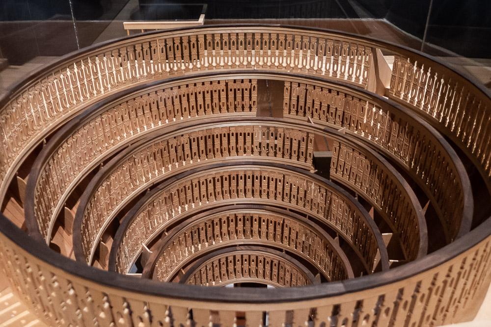 Maquette van het anatomische theater in het Palazzo Bo in Padova