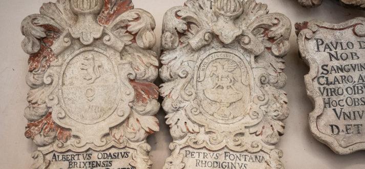 Familiewapens in het Palazzo Bo in Padova