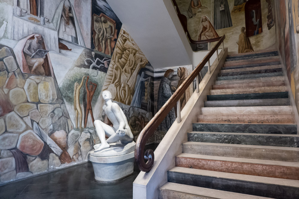 Ontwerp van Gio Ponti in het Palazzo Bo in Padova