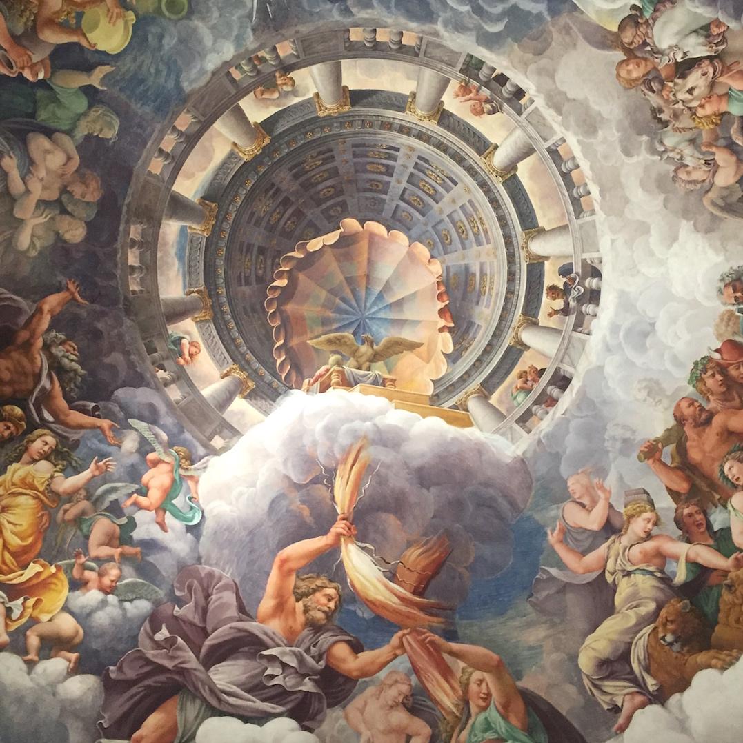 Plafonds van Mantova - de Sala dei Giganti in het Palazzo Te