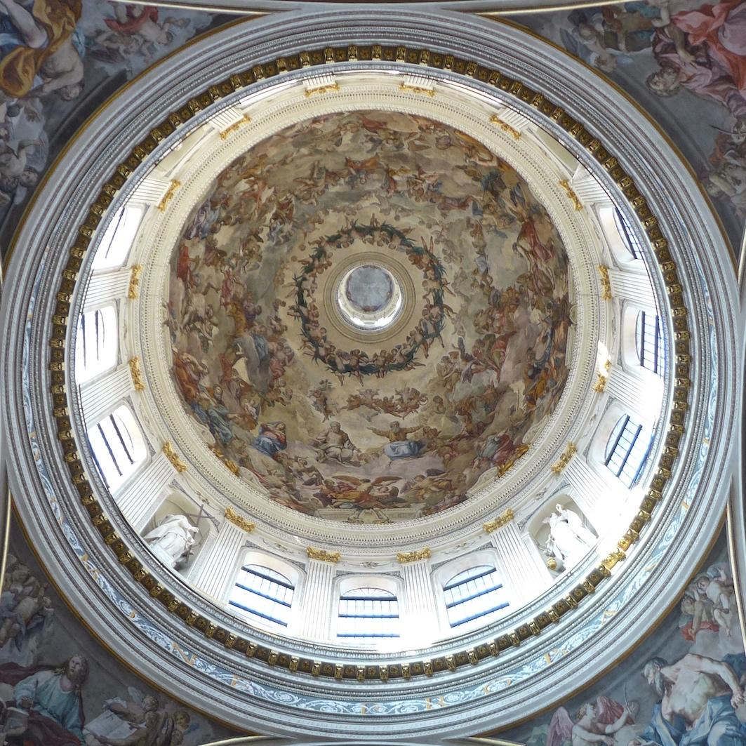 Plafonds van Mantova - de koepel van de Sant'Andrea
