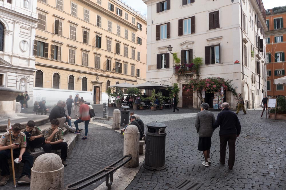 De wijk Monti in Rome - Piazza Madonna dei Monti