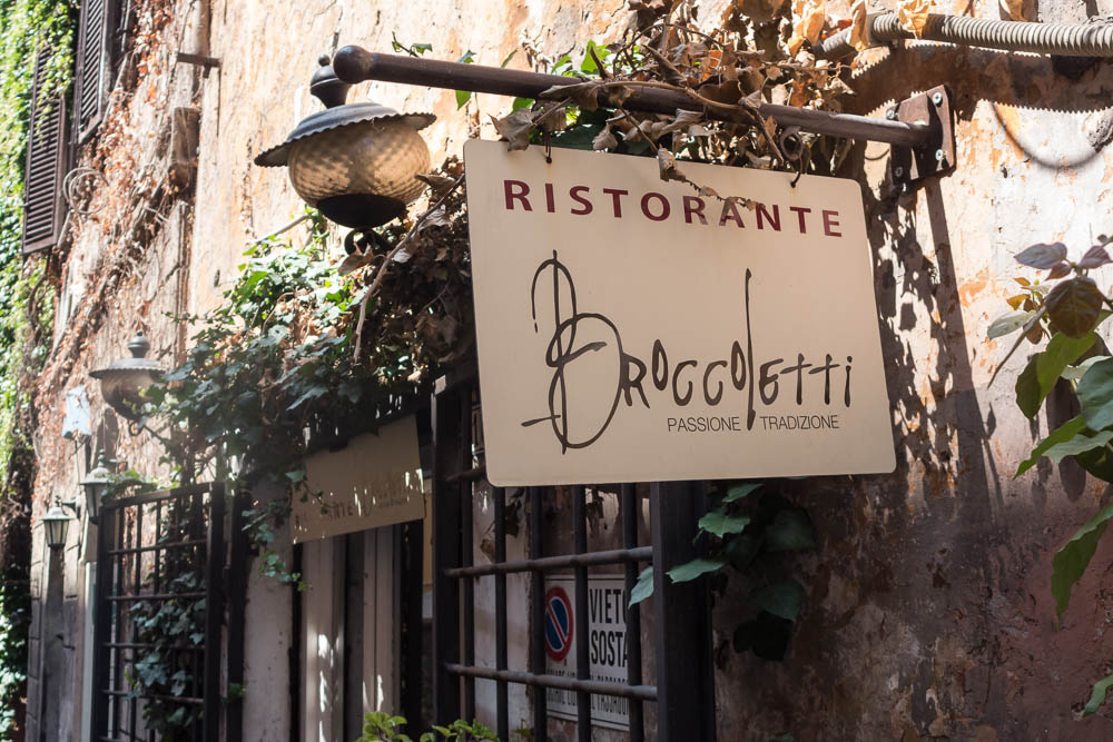 Restaurant Broccoletti in de wijk Monti in Rome