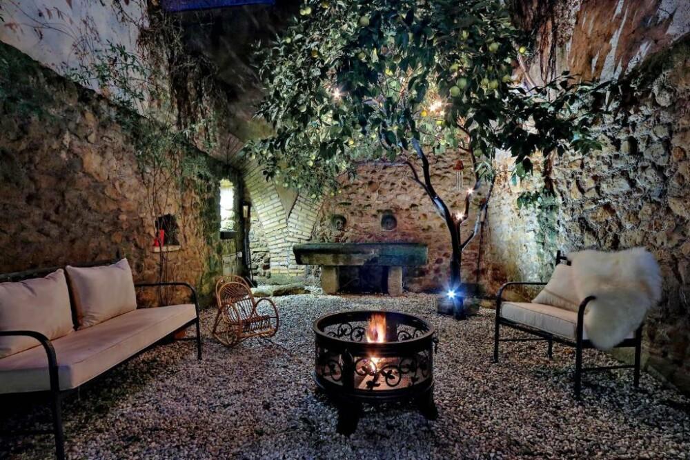 De patio van het appartement San Callisto in Trastevere, Roma