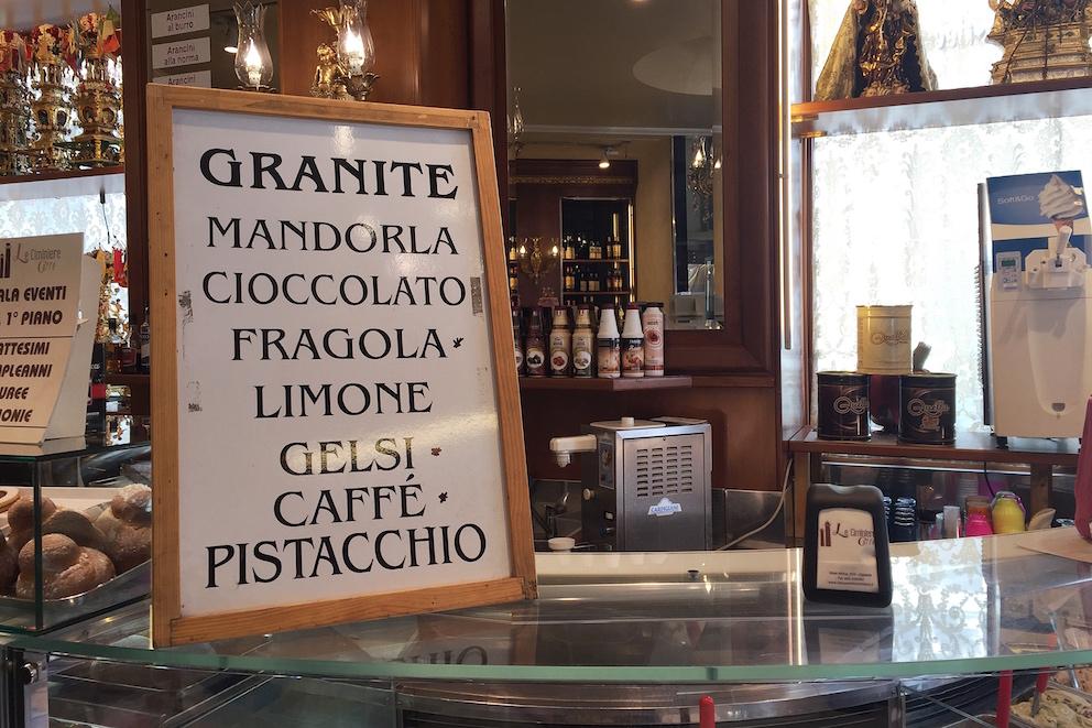 Dit eet je op Sicilië - granita