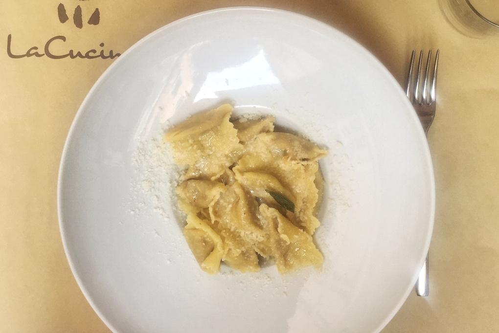 Specialiteiten van Mantova - tortelli di zucca