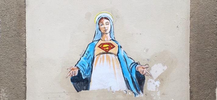 Street art in Florence - de serie Superwomen van LeDiesis