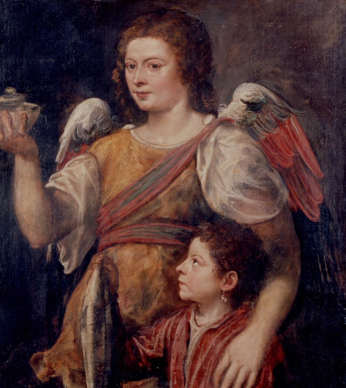 Tobias en de engel, van Titiaan