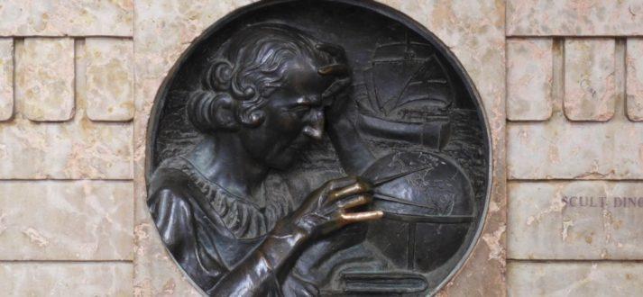 De pink van Columbus in Turijn