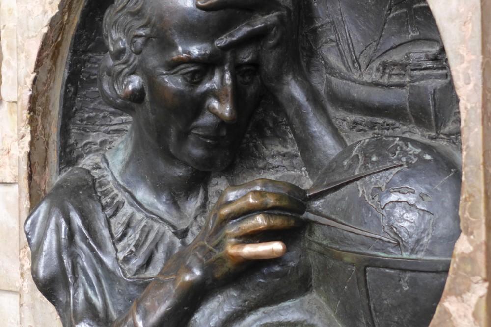 De pink van Columbus in Turijn aanraken brengt geluk