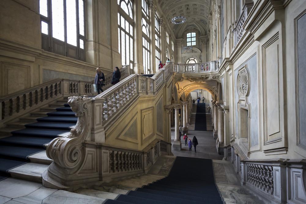 De monumentale trap in het Palazzo Madama in Turijn