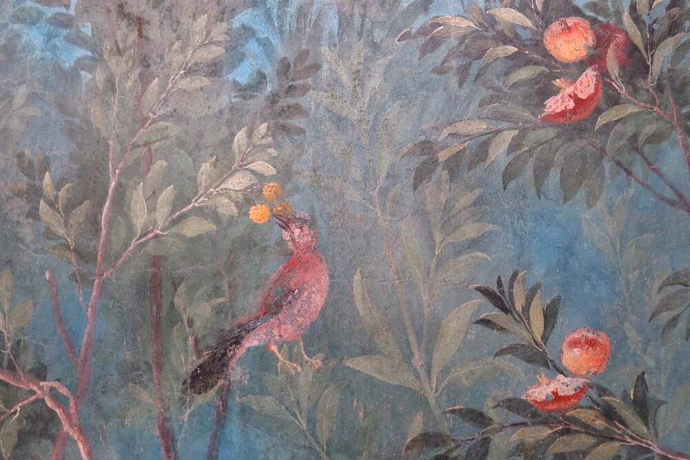De geschilderde tuin in de Villa di Livia bij Rome
