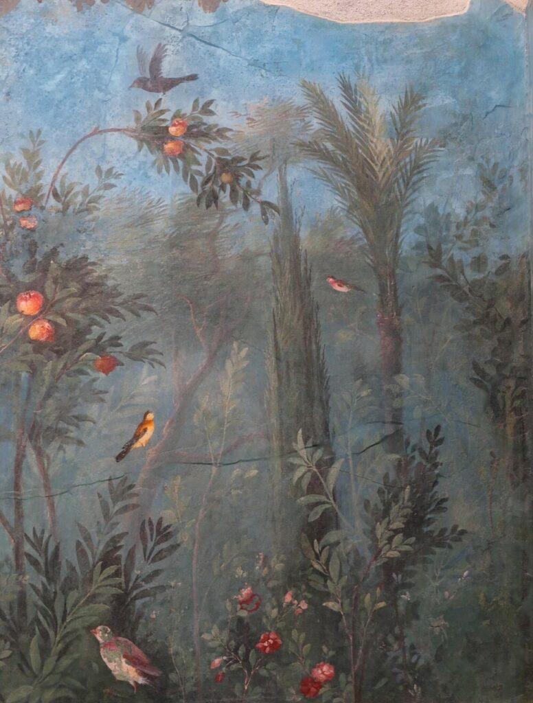 De geschilderde tuin van Livia Drusilla, de vrouw van Augustus