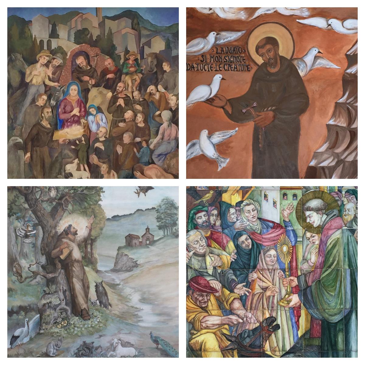 San Francesco in Greccio, een van de borghi più belli d'Italia
