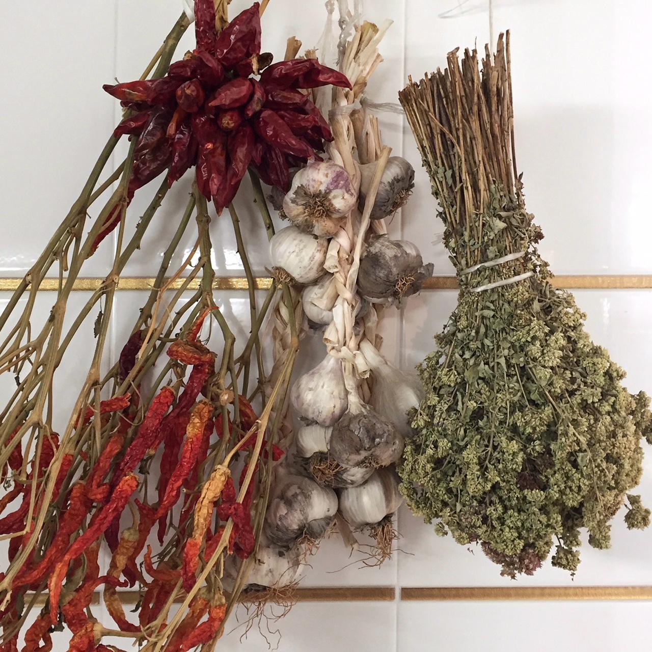 Gedroogde oregano in de Italiaanse keuken