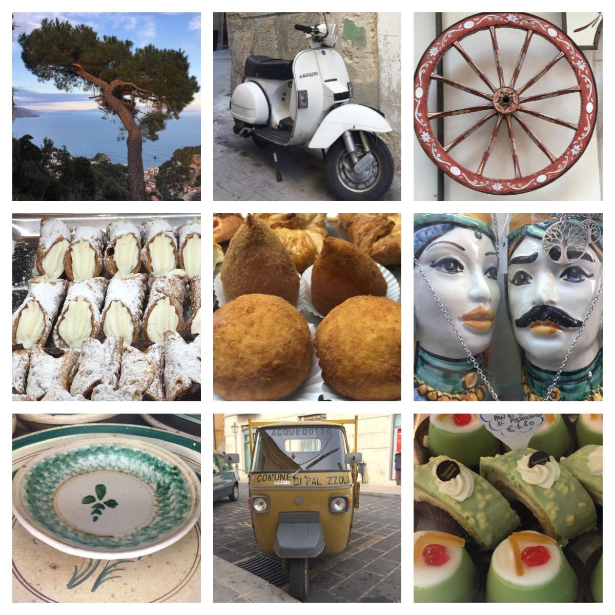 De oostkant van Sicilië