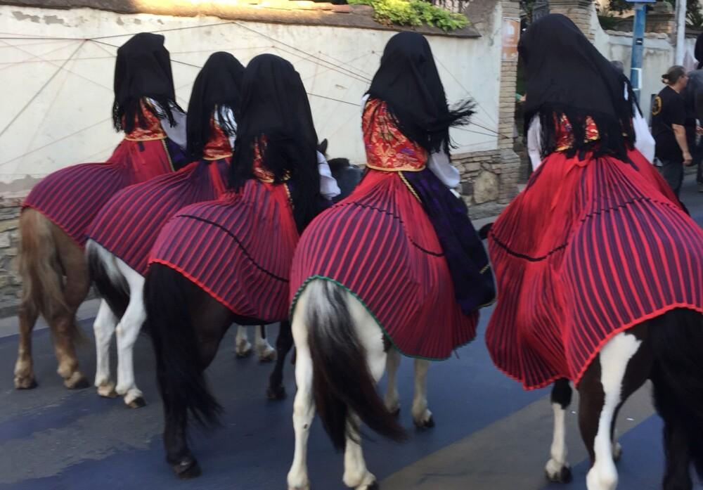Het feest van San Sperate op Sardinië