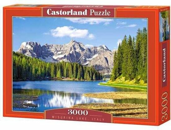 puzzel van Italië - het meer van Misurina